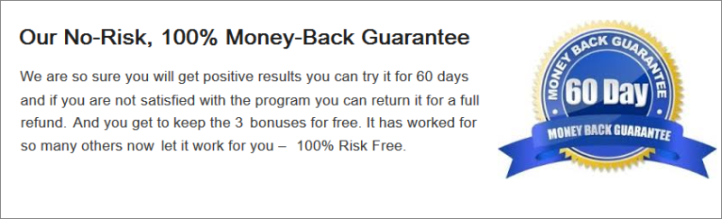 60 day money back - Restore 3 site